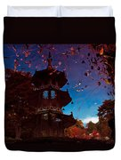 Pagoda Reflection Duvet Cover