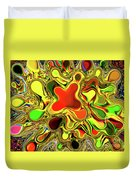 Paint Ball Color Explosion Duvet Cover by Andee Design