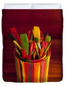 Paint Can And Paint Brushes Still Life Duvet Cover