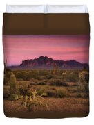 Paint It Pink Sunset  Duvet Cover