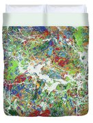 Paint Number Sixteen Duvet Cover