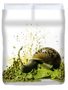 Paint Sculpture And Snail 2 Duvet Cover
