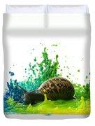 Paint Sculpture And Snail 4 Duvet Cover