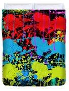 Paint Splatter - Black Duvet Cover