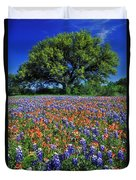 Paintbrush And Bluebonnets - Fs000057 Duvet Cover by Daniel Dempster
