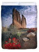 Paintbrush And  Organ Rock Duvet Cover