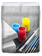 Paintbrushes With Canvas Duvet Cover