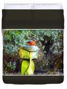 Painted Bullfinch S2 Duvet Cover