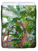 Painted Banana Plant Duvet Cover