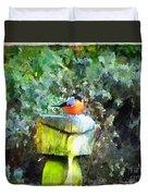 Painted Bullfinch S1 Duvet Cover