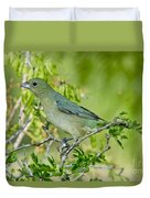 Painted Bunting Hen Duvet Cover