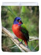 Painted Bunting Photo Duvet Cover