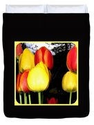 Painted Country Tulips Duvet Cover