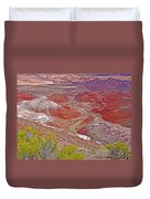 Painted Desert From Rim Trail In Petrified Forest National Park-arizona Duvet Cover