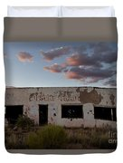 Painted Desert Trading Post At Sunset Duvet Cover
