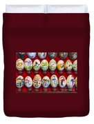 Painted Eggs In China Market Duvet Cover