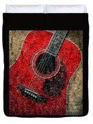 Painted Guitar - Music - Red Duvet Cover