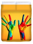 Painted Hands Duvet Cover