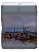 Painted Harbor Duvet Cover