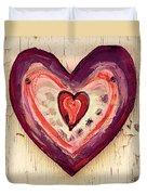Painted Heart Duvet Cover