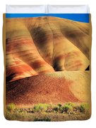 Painted Hills And Grassland Duvet Cover