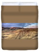 Painted Hills In Oregon Panorama Duvet Cover