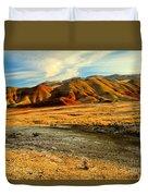 Painted Hills Sunset Duvet Cover