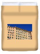 painted homes in Camogli Duvet Cover