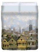Painted Ladies - San Francisco Duvet Cover