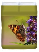Painted Lady Duvet Cover