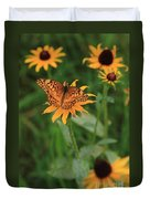 Painted Lady With Friends Duvet Cover