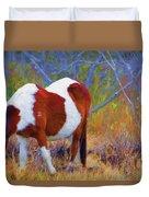 Painted Marsh Mare Duvet Cover