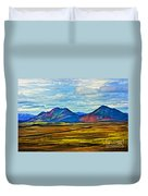 Painted Mountain Duvet Cover