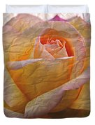 Painted Paper Rose Duvet Cover