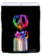 Painted Peace Duvet Cover