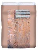 Painted Pink Concrete Duvet Cover