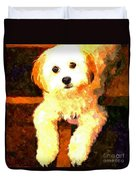 Painted Puppy Duvet Cover