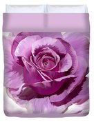 Painted Purple Rose  Duvet Cover
