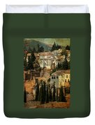 Painted Ronda. Spain Duvet Cover by Jenny Rainbow
