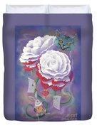 Painted Roses For Wonderland's Heartless Queen Duvet Cover
