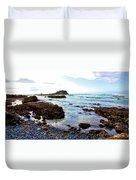 Painted Seascape Duvet Cover