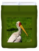 Painted Stork Duvet Cover