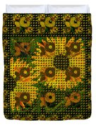 Painted Sunflower Abstract Duvet Cover