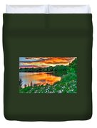 Painted Sunset Duvet Cover