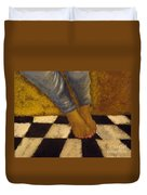 Painted Toe Nails Duvet Cover
