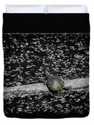 Painted Turtle In A Monochrome World Duvet Cover