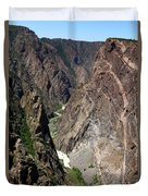 Painted Wall Black Canyon Of The Gunnison Duvet Cover