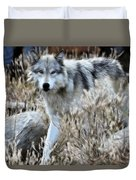 Painted Wolf Duvet Cover