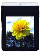Painted Yellow Dahlia Duvet Cover