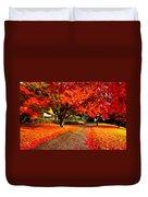 Painterly Autumn Path Duvet Cover